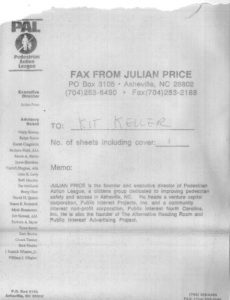 4 PAL Letterhead, Sept 1991