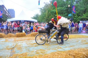 Bicycle jousting at LAAFF. Photo credit Micah Mackenzie
